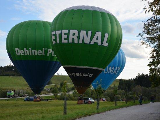 Let balónem Telč