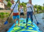 Jízda na BIG paddleboardu
