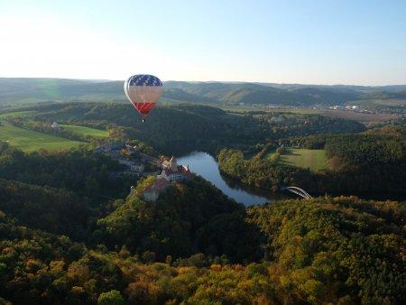 Přelet hor v balónu